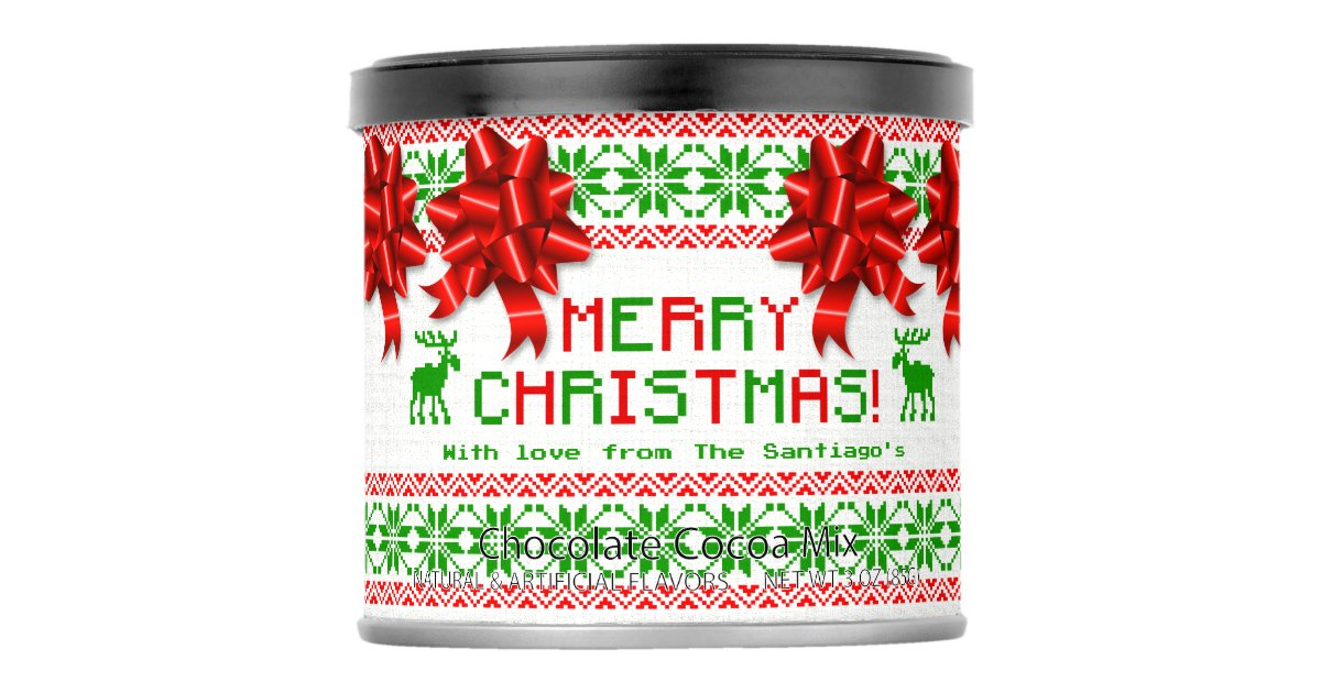 Ugly Christmas Sweater Personalized Hot Chocolate Drink