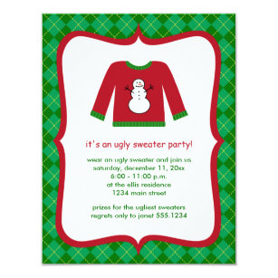 Ugly Christmas Sweater Invitations Zazzle