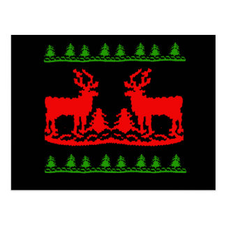 Ugly Christmas Sweater Post Cards