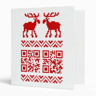 Ugly Christmas Sweater QR Code Happy New Year ! Binder