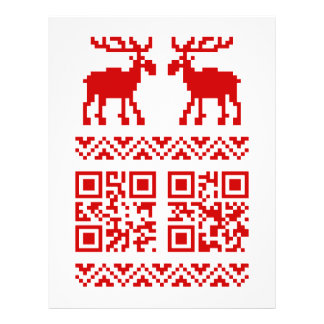Ugly Christmas Sweater QR Code Happy New Year ! Flyer