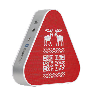 Ugly Christmas Sweater QR Code Happy New Year ! Bluetooth Speaker