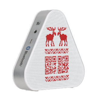 Ugly Christmas Sweater QR Code Happy New Year ! Speaker