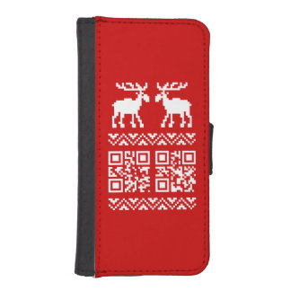 Ugly Christmas Sweater QR Code Happy New Year ! Phone Wallet Cases