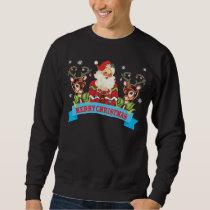 Ugly Christmas Sweater Reindeer and Santa