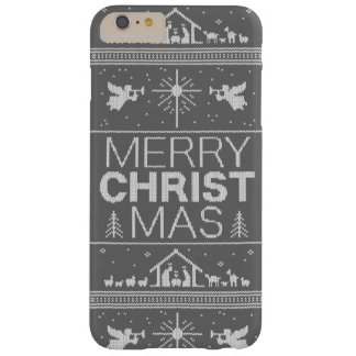 Ugly Christmas Sweater Religious Christian Gray Barely There iPhone 6 Plus Case