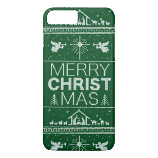 Ugly Christmas Sweater Religious Christian Green iPhone 7 Plus Case