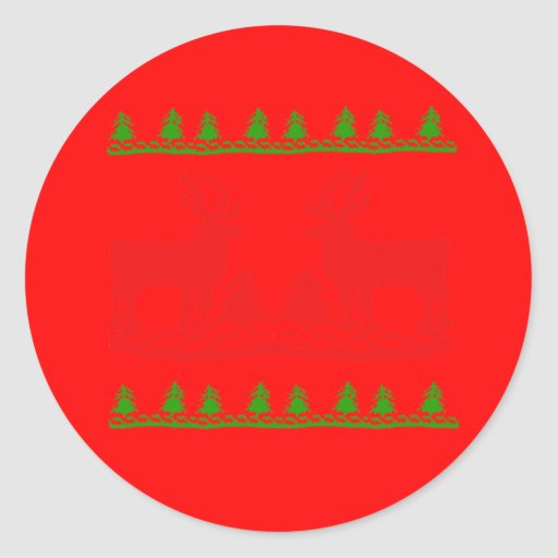 Ugly Christmas Sweater Round Stickers