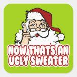 Ugly Christmas Sweater Santa Sticker