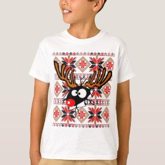 Ugly Christmas Sweater Shirt crashing thru