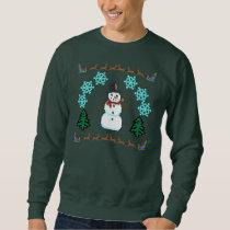 Ugly Christmas Sweater - Snowman Reindeer Santa