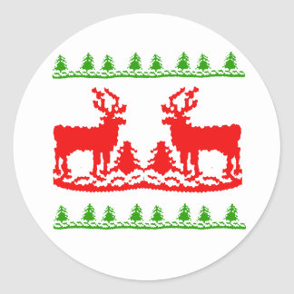Ugly Christmas Sweater Round Sticker