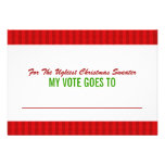 Ugly Christmas Sweater Voting Ballot Card