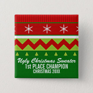 Ugly Christmas Sweater Winner Button