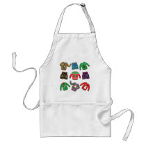 Ugly Christmas Sweaters and Vests Adult Apron