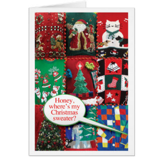 Ugly Christmas Sweaters Card