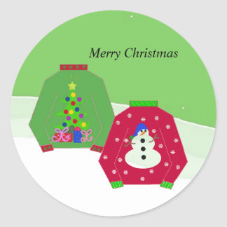 Ugly Christmas Sweaters Classic Round Sticker