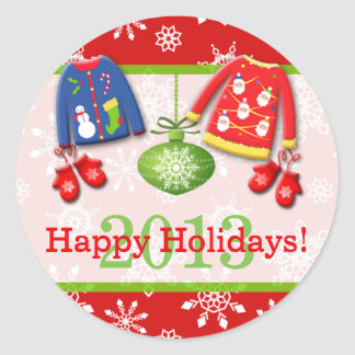 Ugly Christmas Sweaters Happy Holidays Sticker 4