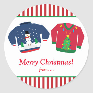 Ugly Christmas Sweaters Holiday Party Sticker
