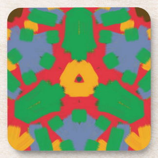 Ugly colorful pattern beverage coaster