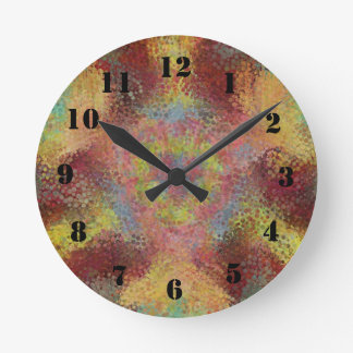 ugly colorful pattern round clock