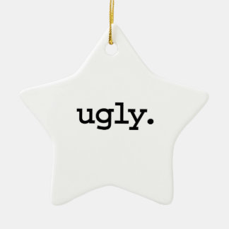 ugly. Double-Sided star ceramic christmas ornament