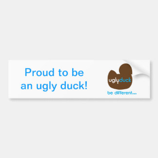 Ugly Duck - be different Bumper Stickers