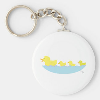 ugly duckling in a pond keychain