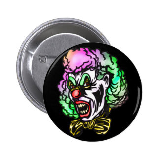 Ugly Evil Clown 2 Inch Round Button
