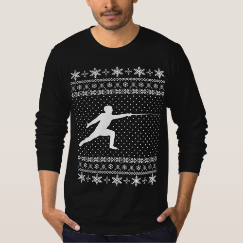 Ugly Fencing Christmas Sweater After Christmas Sales 3083