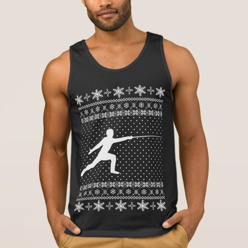 Ugly Fencing Christmas Sweater After Christmas Sales 3086