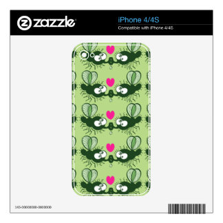 Ugly flies kissing and falling in love iPhone 4 skin