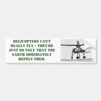 Ugly Helicopter Bumper Sticker
