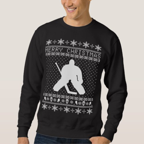 Ugly Hockey Christmas Sweater After Christmas Sales 3103