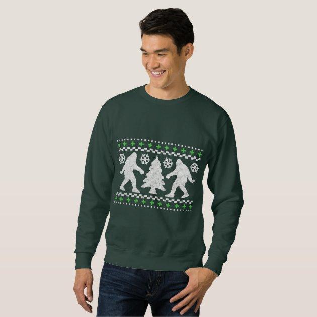 Ugly Holiday Bigfoot Christmas Sweater | Zazzle