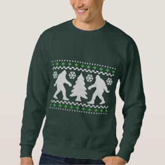 Ugly Holiday Bigfoot Christmas Sweater Pull Over Sweatshirts