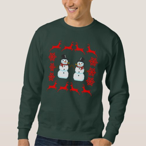 Ugly Holiday Christmas Sweater Reindeer Santa Snow After Christmas Sales 3125