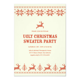 Ugly Holiday Sweater Party Invitations