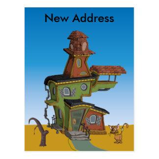 Ugly House New Address Postcard
