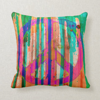 Ugly Is Beautiful Peace Sign Pillow