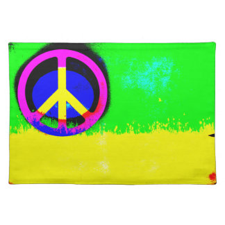 Ugly is Beautiful Peace Sign Placemat Cloth Placemat