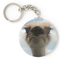 Ugly Man Ostrich Keychain