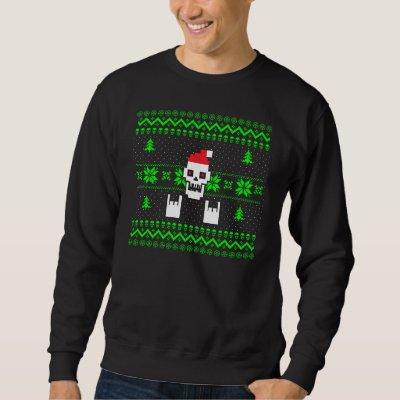 heavy metal skull shirt zazzlecom - Metal Christmas Sweaters