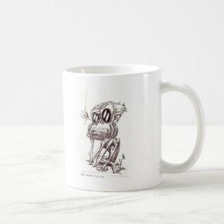 Ugly Monkey with Flower and Bug Mug