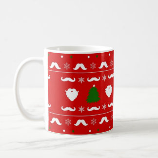 Ugly Mustache Christmas Sweater Classic White Coffee Mug