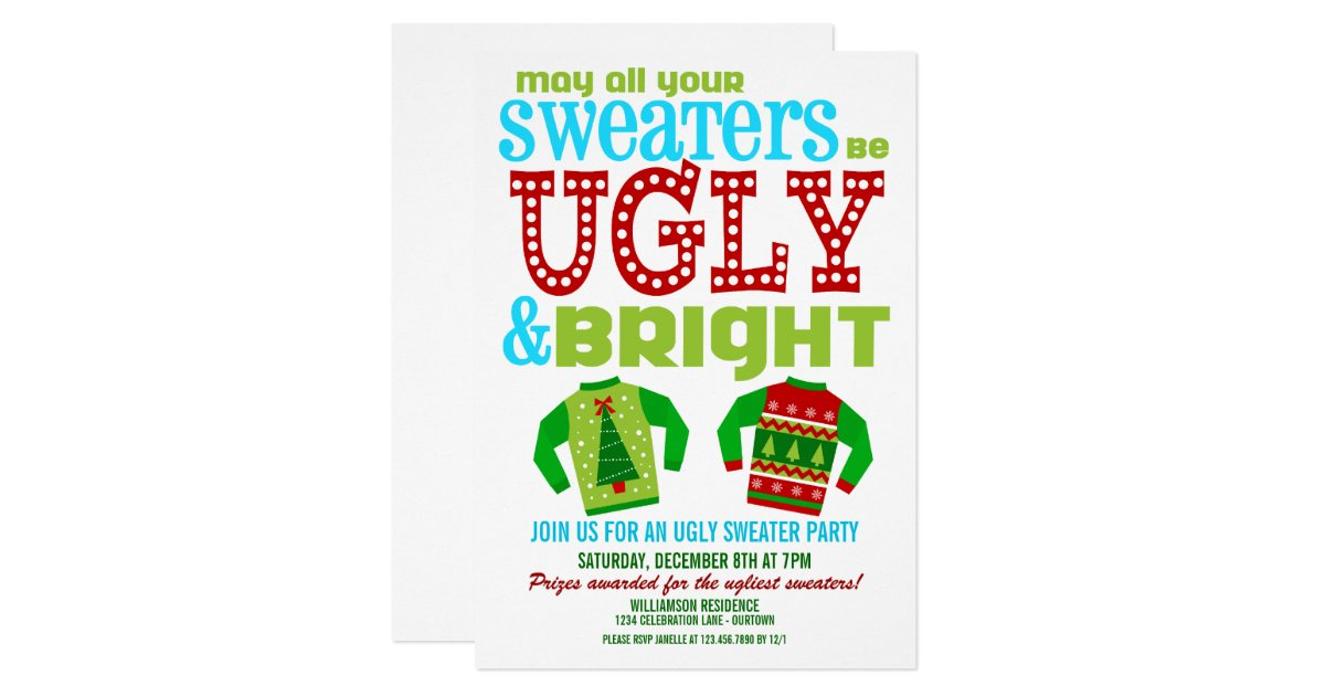 Ugly Sweater Party Invite – gangcraft.net