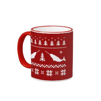 Ugly Narwhal Christmas Sweater Coffee Mug