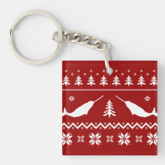 Ugly Narwhal Christmas Sweater Keychain