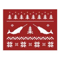 Ugly Narwhal Christmas Sweater Postcard
