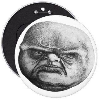 Ugly Ogre 6 Inch Round Button